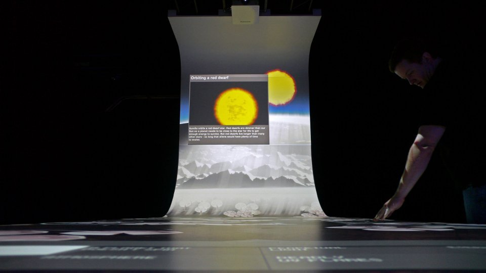 Stefan Helling Artcom The Science Of Aliens Exhibition China Projection Multitouch Table