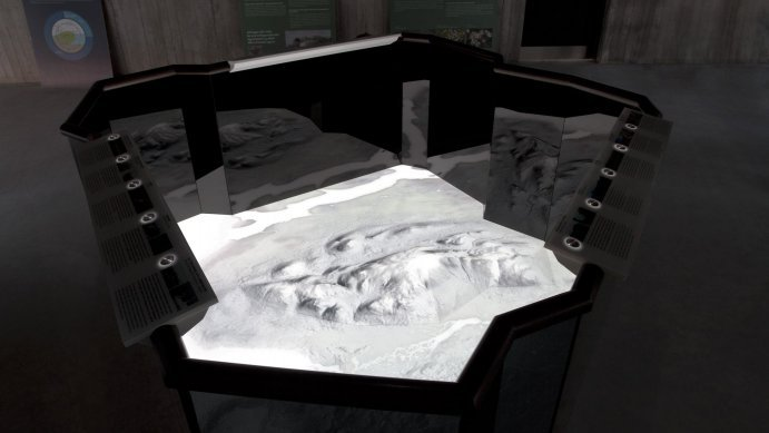 Stefan Helling Artcom Living Cartography Interactive Map Vatnajoekull Snow